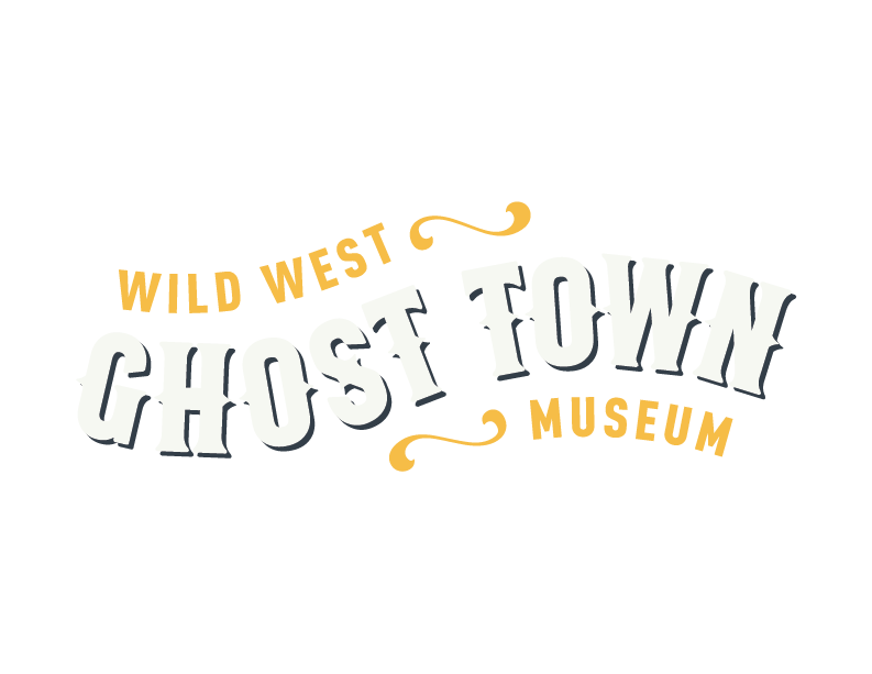 Ghost Town Museum logo Wild West things to do in Colorado Springs kid friendly gold panning ghost town History ghost town museum logo semi positive medium